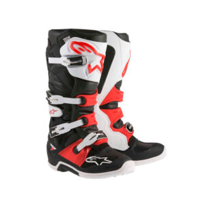 TECH 7 BLACK WHITE RED-motohouse.bg