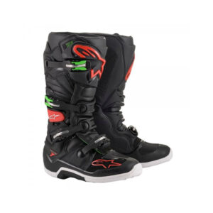 TECH 7 BLACK RED GREEN ALPINESTARS-motohouse.bg