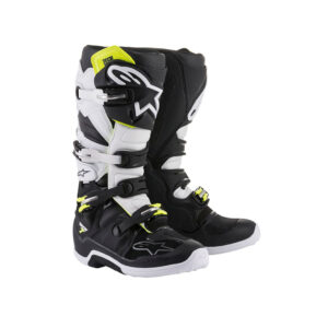 TECH 7 BLACK WHITE ALPINESTARS-motohouse.bg