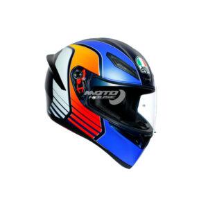 Каска K-1 AGV Multi Power Matt Dark Blue-Orange-White-motohouse.bg