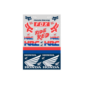 Лепенки 23619 HONDA TRACK PACK WHITE-RED-BLUE-motohouse.bg