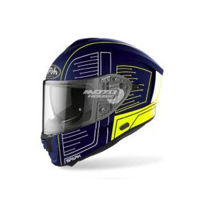 Каска SPARK CYRCUIT BLUE MATT AIROH-motohouse.bg