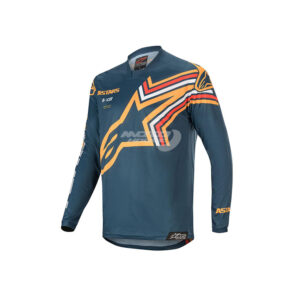 Блуза RACER BRAAP JERSEY NAVY ORANGE ALPINESTARS-motohouse.bg-1