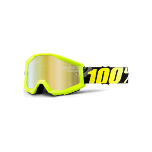 Oчила STRATA NEON YELLOW MIRROR GOLD LENS-motohouse.bg