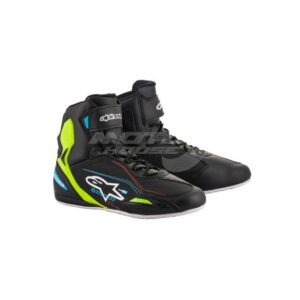 Обувки FASTER-3 SHOES BLACK YELLOW FLUO LT BLUE ALPINESTARS